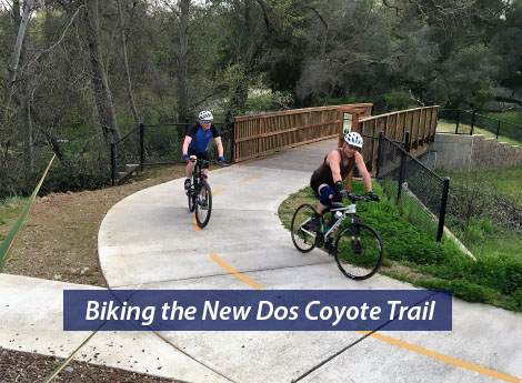 new trail behind Dos Coyotes